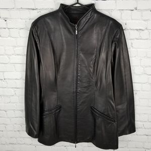 DANIER | full zip leather jacket